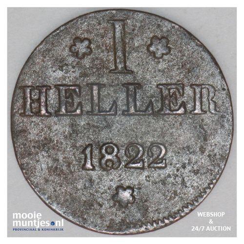 heller - German States/Frankfurt am Main 1822 (KM 301) (kant A)
