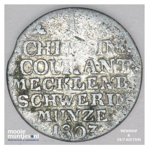 schilling - duchy - German States/Mecklenburg-Schwerin 1803 (KM 220) (kant A)