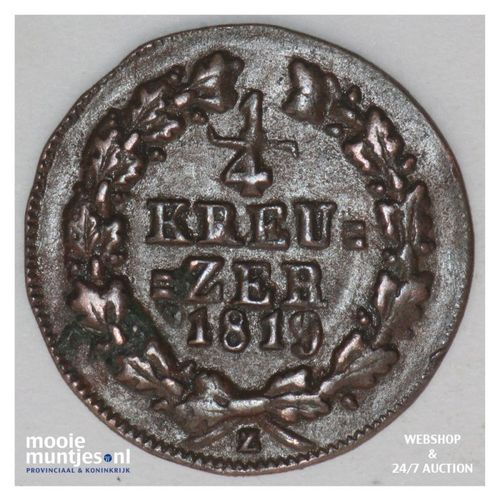 1/4 kreuzer - united Nassau - German States/Nassau 1819 (KM 42) (kant A)