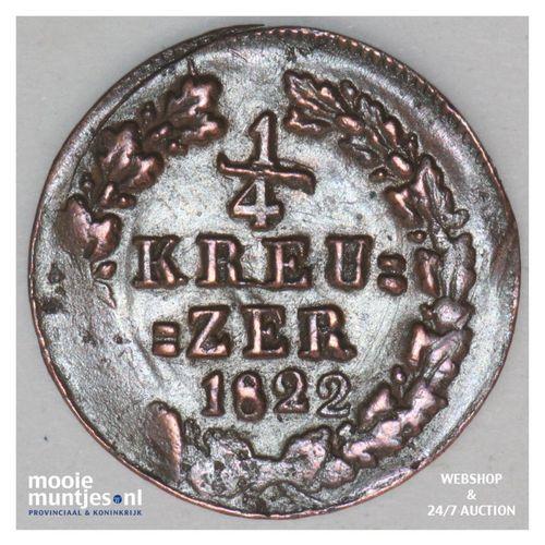 1/4 kreuzer - united Nassau - German States/Nassau 1822 (KM 42) (kant A)