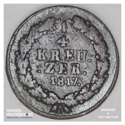 1/4 kreuzer - united Nassau - German States/Nassau 1817 (KM 41) (kant A)
