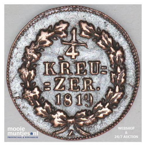 1/4 kreuzer - united Nassau - German States/Nassau 1819 (KM 41) (kant A)