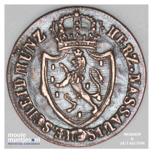 1/4 kreuzer - united Nassau - German States/Nassau 1819 (KM 41) (kant B)