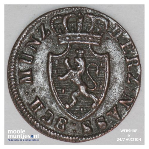 1/4 kreuzer - united Nassau - German States/Nassau 1819 (KM 42) (kant B)