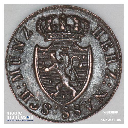 1/4 kreuzer - united Nassau - German States/Nassau 1822 (KM 42) (kant B)