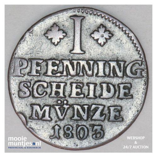pfennig - German States/Brunswick-Wolfenbuttel 1803 (KM 995) (kant A)