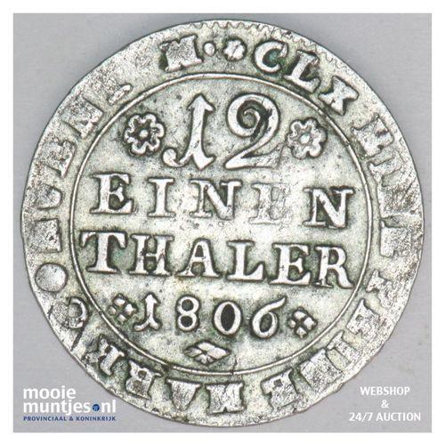 1/12 thaler (2 groschen) - German States/Brunswick-Wolfenbuttel 1806 (KM 1000) (