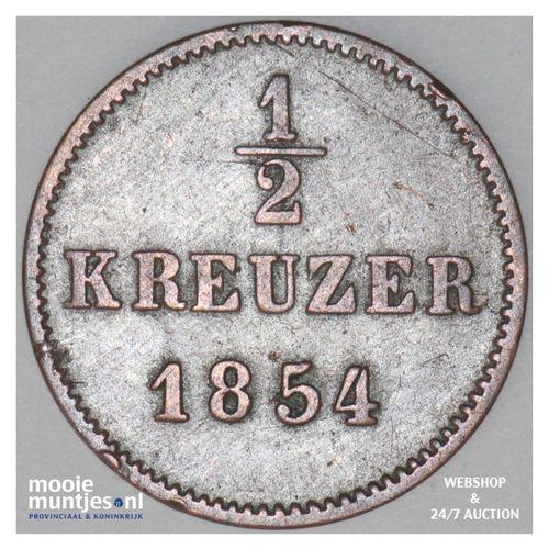 1/2 kreuzer - German States/Saxe-Meiningen 1854 (KM 162) (kant A)
