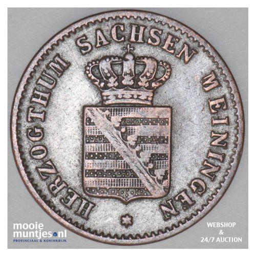1/2 kreuzer - German States/Saxe-Meiningen 1854 (KM 162) (kant B)