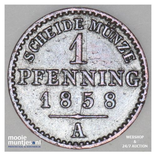 pfennig - German States/Lippe-Detmold 1858 (KM 260) (kant A)