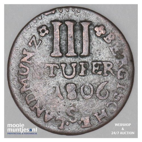 3 stuber - duchy - German States/Berg 1806 S (KM 7) (kant A)