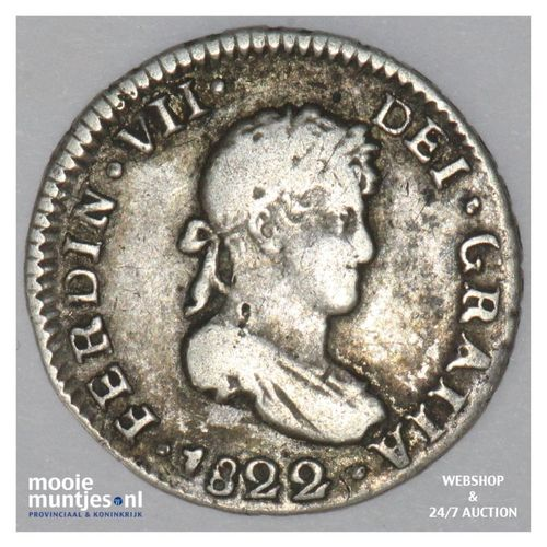 1/2 real - colonial - Bolivia 1822 (KM 90) (kant A)