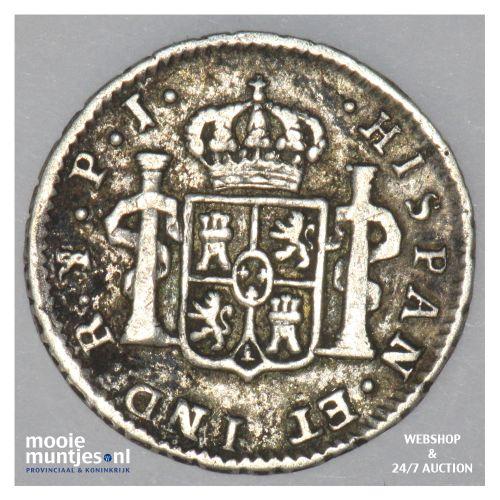 1/2 real - colonial - Bolivia 1822 (KM 90) (kant B)