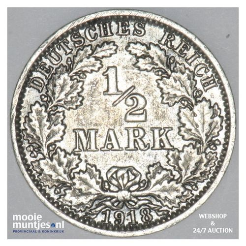 1/2 mark - Germany 1918 A (KM 17) (kant A)