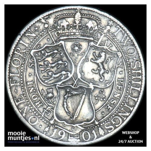 florin (two shillings) - Great Britain 1901 (KM 781) (kant A)