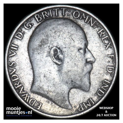 florin (two shillings) - Great Britain 1909 (KM 801) (kant B)