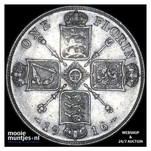 florin (two shillings) - Great Britain 1916 (KM 817) (kant A)