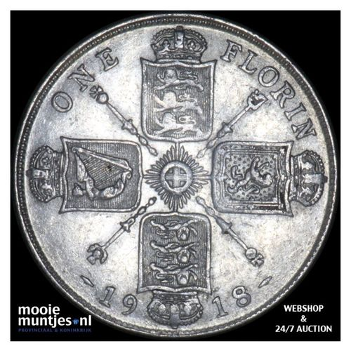 florin (two shillings) - Great Britain 1918 (KM 817) (kant A)