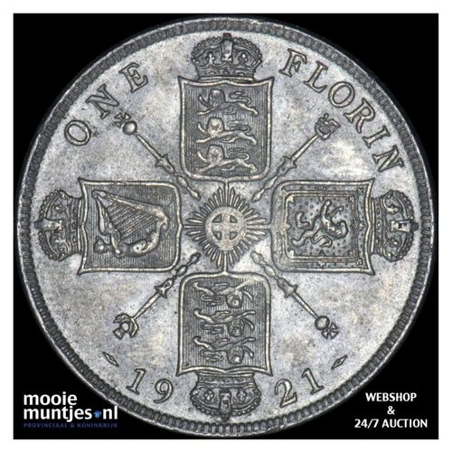 florin (two shillings) - Great Britain 1921 (KM 817a) (kant A)