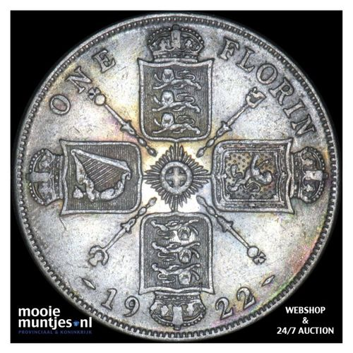 florin (two shillings) - Great Britain 1922 (KM 817a) (kant A)
