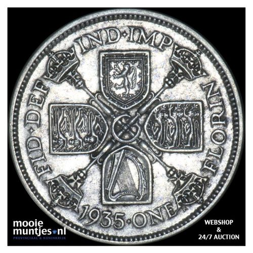 florin (two shillings) - Great Britain 1935 (KM 834) (kant A)