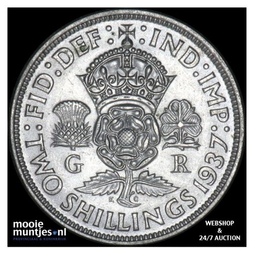 florin (two shillings) - Great Britain 1937 (KM 855) (kant A)
