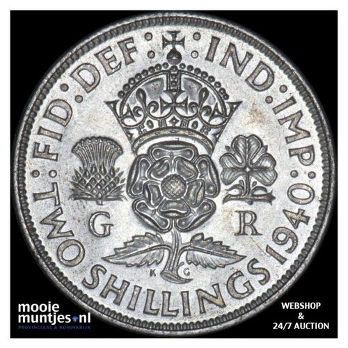 florin (two shillings) - Great Britain 1940 (KM 855) (kant A)