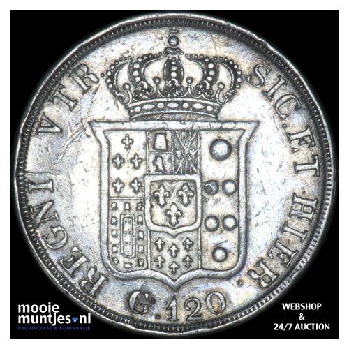 120 grana - Italian States/Naples 1836 (KM 325) (kant B)