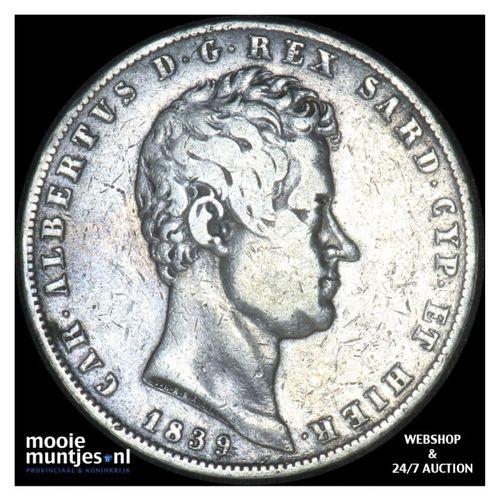 5 lire - mainland reform coinage - Italian States/Sardinia 1836 (KM 130.2) (kant