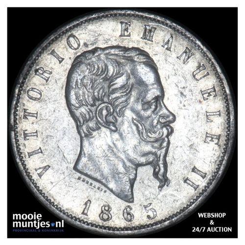 5 lire - Italy 1865 (KM 8.2) (kant A)