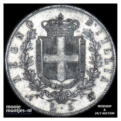 5 lire - Italy 1865 (KM 8.2) (kant B)