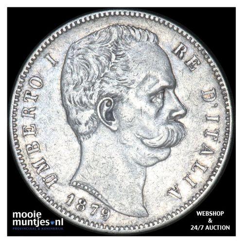 5 lire - Italy 1879 (KM 20) (kant A)