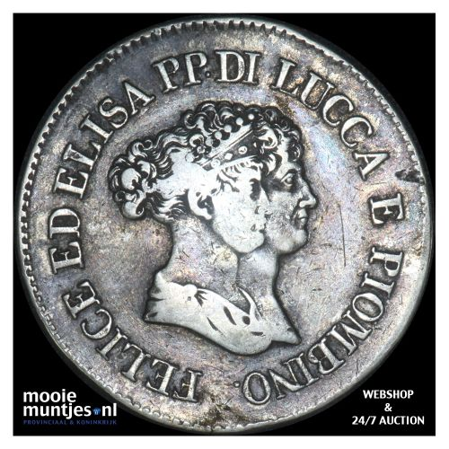 5 franchi - Italian States/Lucca 1805. (KM 24.2) (kant B)