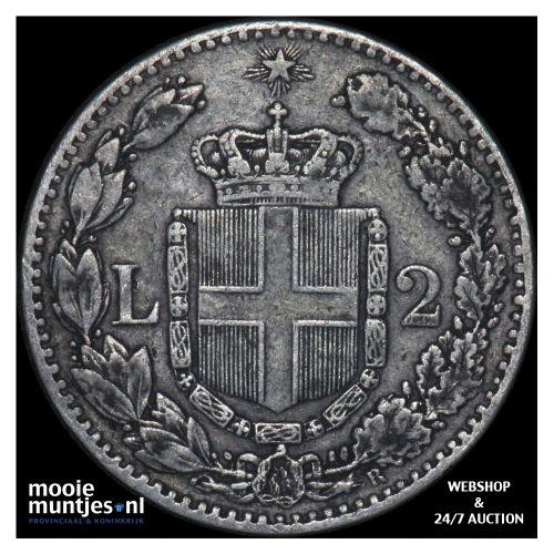 2 lire - Italy 1882 (KM 23) (kant B)