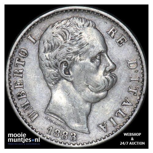 2 lire - Italy 1883 (KM 23) (kant A)