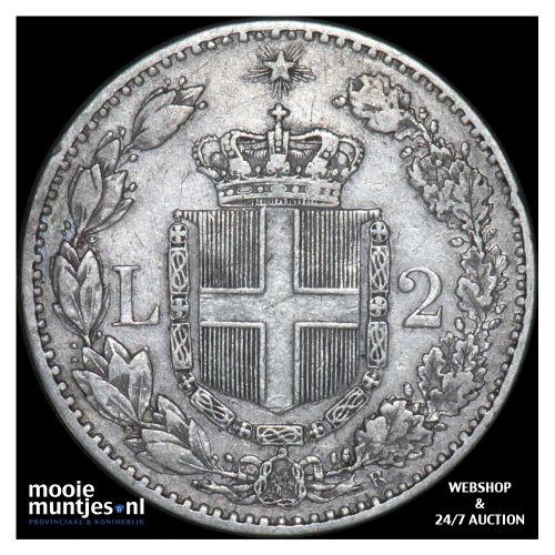 2 lire - Italy 1883 (KM 23) (kant B)