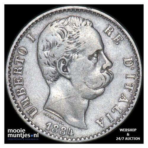 2 lire - Italy 1884 (KM 23) (kant A)