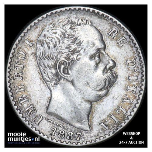 2 lire - Italy 1887 (KM 23) (kant A)