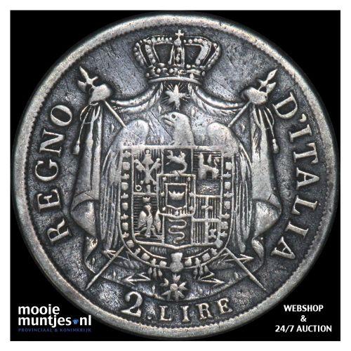 2 lire - Italian States/Kingdom of Napoleon 1809 M (KM C# 9.1) (kant B)