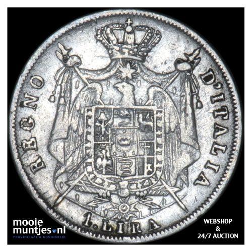 lira - Italian States/Kingdom of Napoleon 1812 M (KM C# 8.1) (kant B)