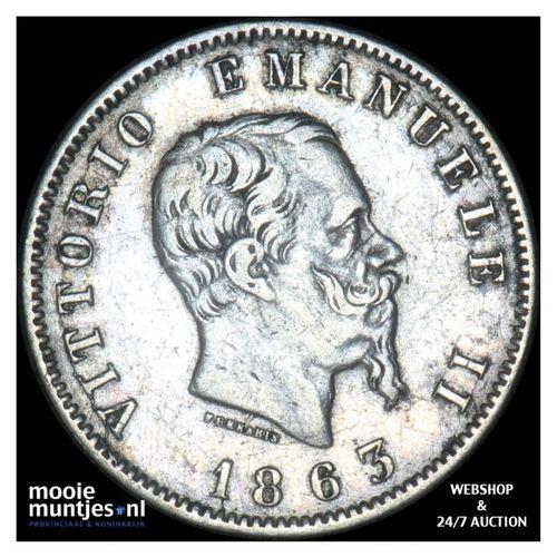 lira - Italy 1863 M (KM 5a.1) (kant A)