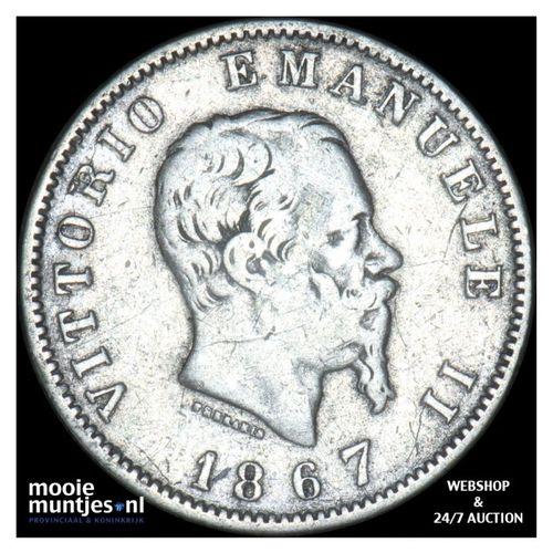 lira - Italy 1867 M (KM 5a.1) (kant A)