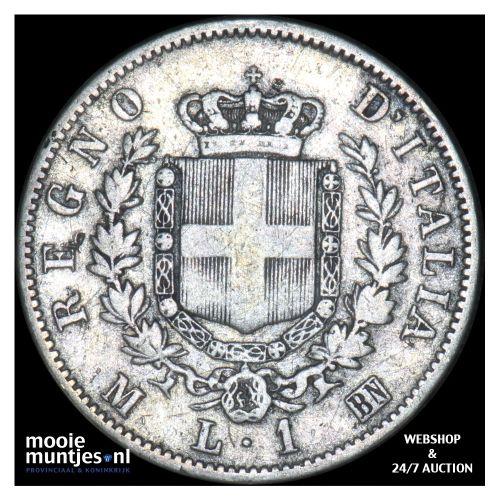 lira - Italy 1867 M (KM 5a.1) (kant B)
