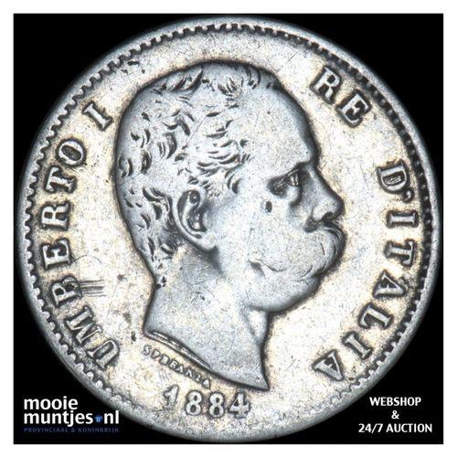 lira - Italy 1884 (KM 24.1) (kant A)