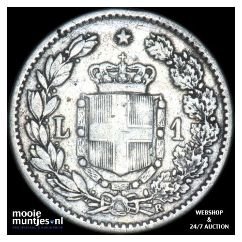 lira - Italy 1884 (KM 24.1) (kant B)
