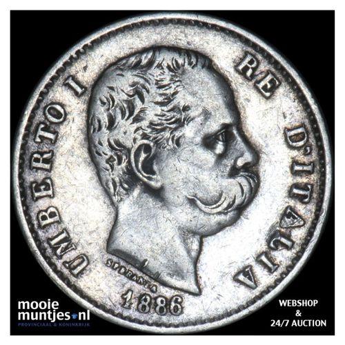 lira - Italy 1886 (KM 24.1) (kant A)