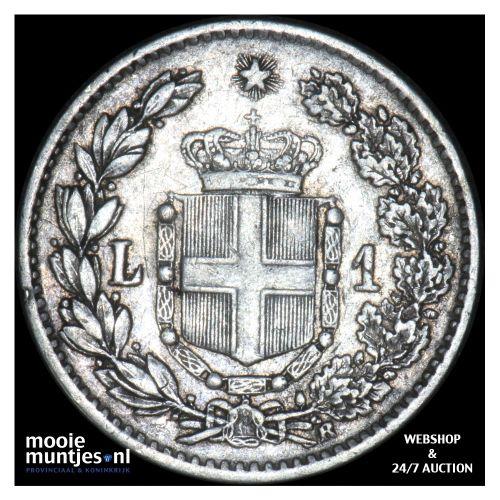 lira - Italy 1886 (KM 24.1) (kant B)