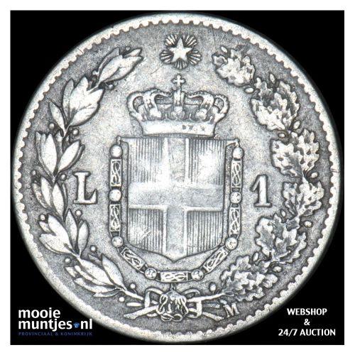 lira - Italy 1887 (KM 24.2) (kant B)