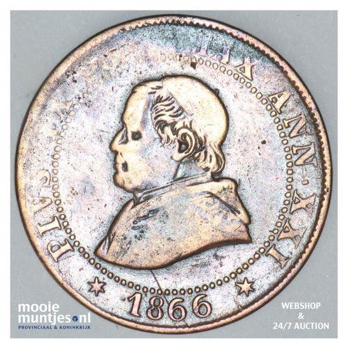 soldo (5 centesimi) - decimal coinage - Italian States/Papal States 1866 (KM 137