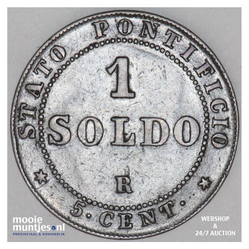 soldo (5 centesimi) - decimal coinage - Italian States/Papal States 1867 (KM 137